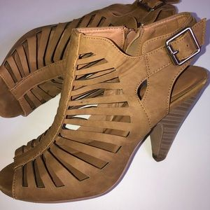 Charlotte Russe Wooden Heel with Buckle Strap 8